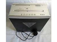 TEXET CROSS CUT SHREDDER DESTROYS PAPER CD's CREDIT CARDS FULLY WORKING HOME OFFICE