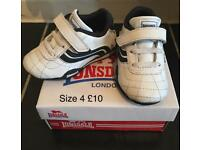 Lonsdale toddler trainers. Size 4