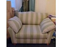 Lovely Fabric Settee in excellent condition