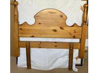Decorative single bed head
