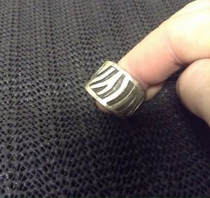 925 silver and black ring