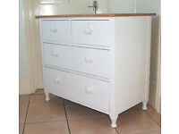 Vintage Antique Solid Oak Chest of Four Drawers for Restoration / Upcycling
