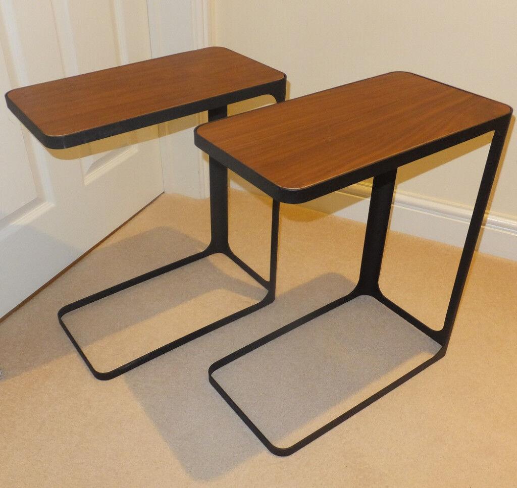 pretty nice fa456 ecedb New - 2 Yamazaki Side Tables - Black & Solid Walnut - List Price £228 | in  Newbury, Berkshire | Gumtree