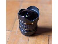 Samyang 8mm Fisheye F3.5 (f/3.5) Canon Fit - DSLR Prime Fisheye As New