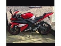 Yamaha yzf r125 scorpion exhausts red