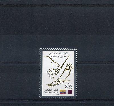 Qatar 2014 MNH Joint Issue Ecuardor 1v Set Condor Oryx Birds Antelope