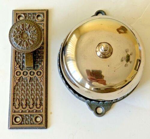 Brass Victorian Doorbell And Lever