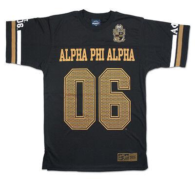 Alpha Football Jersey (Alpha Phi Alpha Fraternity Football Jersey Black Gold Football Jersey 1906)