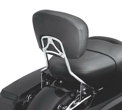 - Detachable Passenger Backrest Pad Sissy Bar Fit Harley Davidson Touring 09-19