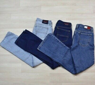 Lot of 3 Vintage Late 90s Y2K Womens Tommy Hilfiger Jeans Sample Denim
