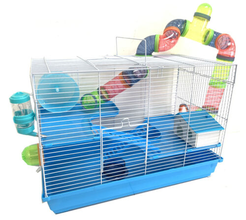 """Large 24"""" 3-Levels Hamster Habitat Crossover Tube House Cage Gerbil Mouse Mice"""