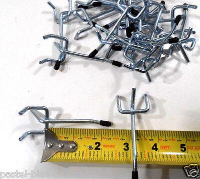 50 Pc. 2 Inch Pegboard Hooks Safety Black Tip Peg Board Hooks