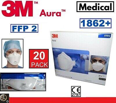 3M™ Aura™ ATEMSCHUTZMASKE 1862+ ohne Ventil FFP2 20 St (09328096)