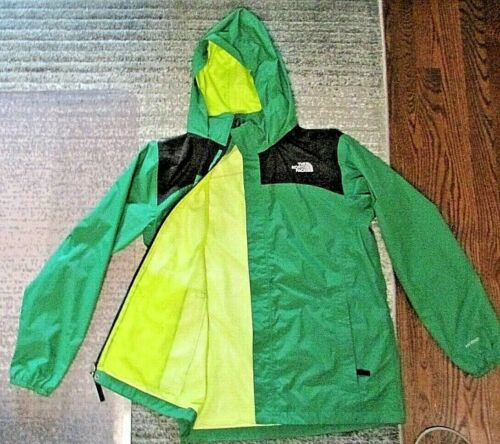 TNF THE NORTH FACE - Boys Size XL 18/20 Green/Black HyVent Nylon JACKET COAT