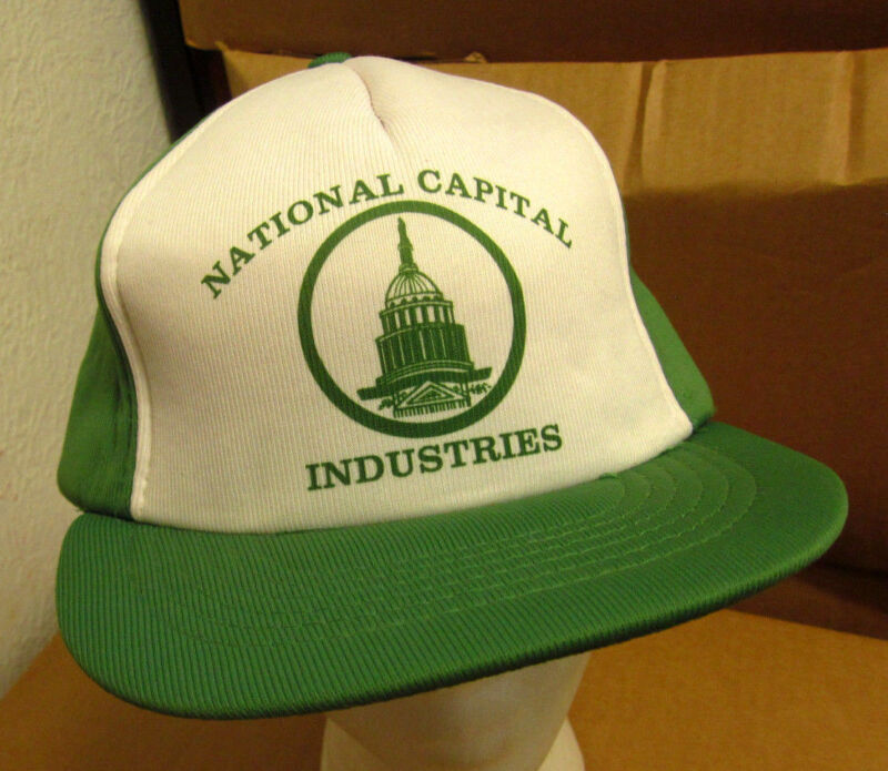 NATIONAL CAPITAL INDUSTRIES quilted baseball hat Safety Equipment cap Maryland