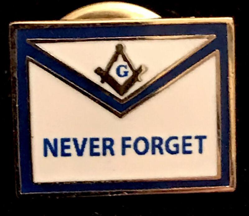 Vintage Shriner Free Mason Masonic Lapel Pin Shriner Never Forget Pin