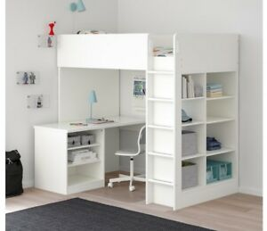 Selling Ikea stuva loft bed with desk and shelves