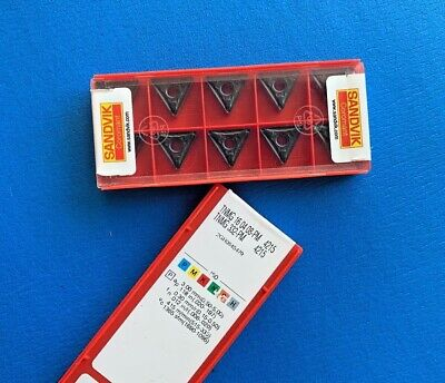 Grade 4225 Carbide Inserts TNMG 16 04 08-PM 10 new SANDVIK Coromant TNMG 332-PM