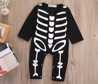 Fasching Halloween Kostüm Strampler Skelett 2 - 8 Monate