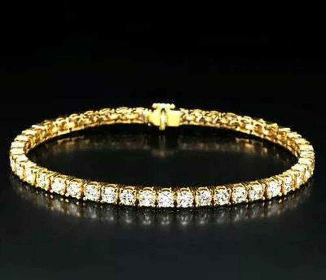 6.00 CTW H SI2 Natural Diamond Tennis Bracelet set in 14K Solid White Gold 1