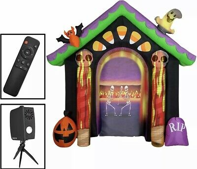 NEW! Gemmy Inflatable Halloween Archway Living Projection FREE SHIPPING!!