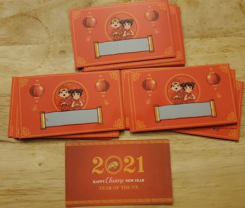 2021 Chinese New Year Fortune Cards (34 Total)