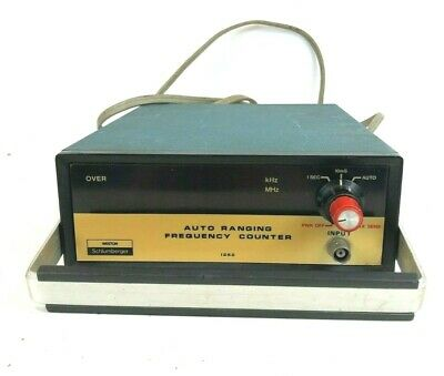Vintage Weston Schlumberger 1252 Programmable Frequency Counter