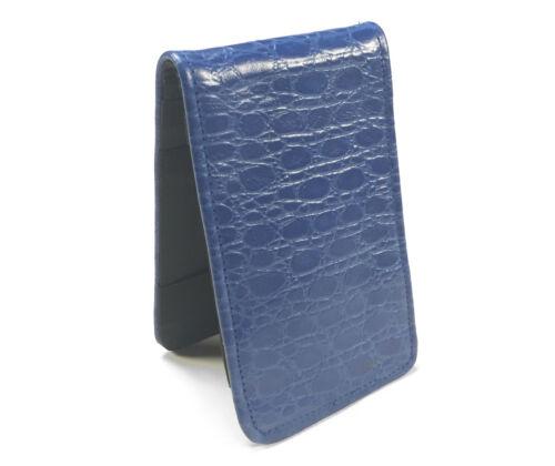 Sunfish Leather Golf Scorecard & Yardage Book Holder / Cover - Blue Croc