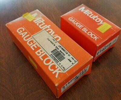 Mitutoyo Gauge Blocks 614204-231 4 Inch And 614219-23 0.95 Inch Grade 2