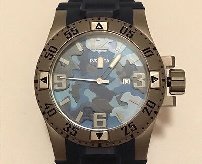 Men's Invicta Excursion Blue Army Camouflage Edition Watch 70