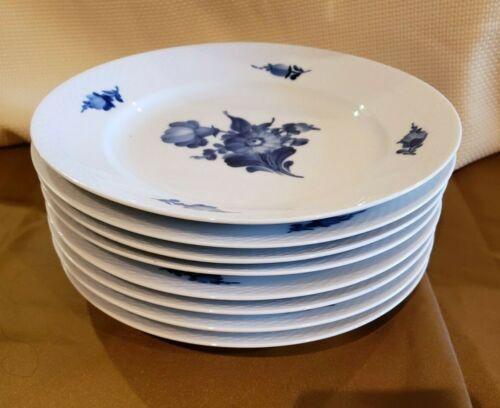 """BLUE FLOWERS BRAIDED Royal Copenhagen Dinner Plate 10"""" Denmark each"""