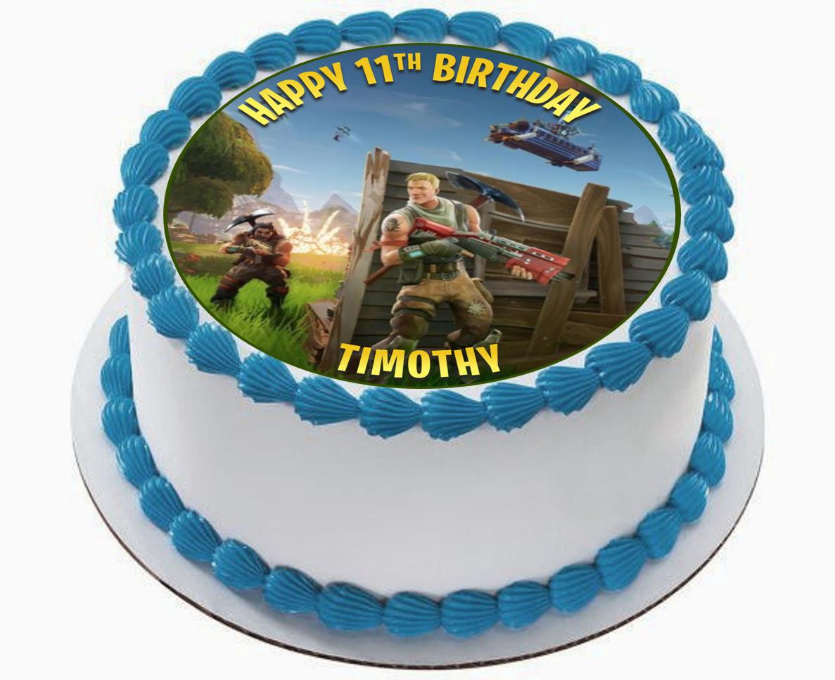 Georld Edible Fortnite Battle Royale Image Cake Topper Decoration Birthday For Sale Online Ebay