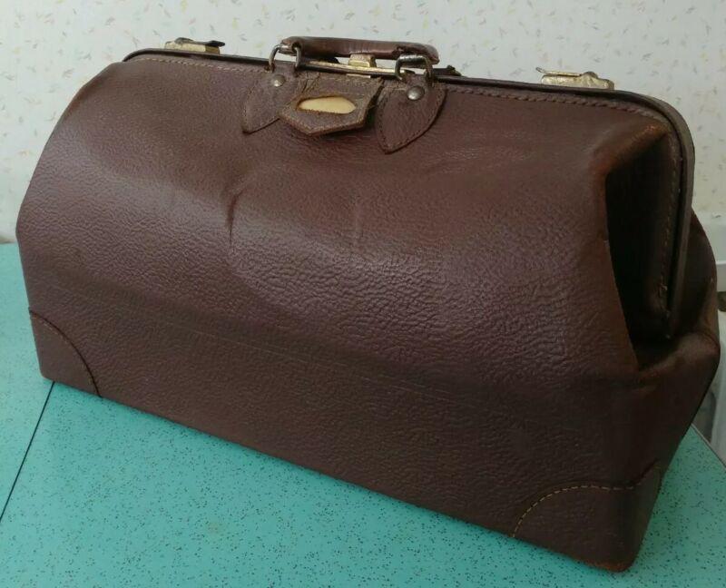 Vintage Brown Doctors Bag O.S. Mundle Richibucto