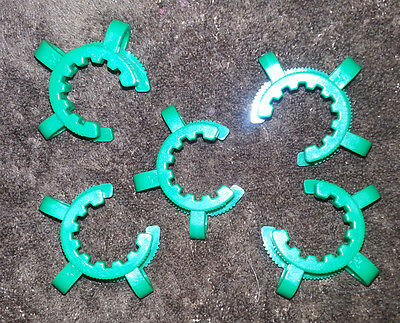 5 X Keck Clamps Joint Clips 2440 2429 Polyacetal Usa Lab Glass Pyrex Clip