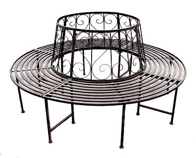 Panca da ALBERO FERRO BATTUTO PANCHINA rotonda 360° Ø 161cm Mobile giardino