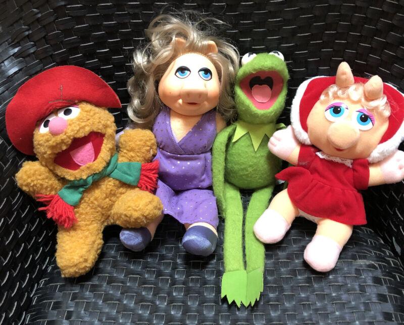 1980's Miss Piggy & Kermit the Frog Fozzie Bear Muppet Doll   #857 #890 Plush