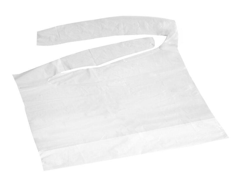 Waterproof Plastic Bibs,White, Case of 500