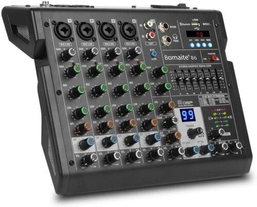 6-Channel Mixer 99 Effects 7 Band EQ Bluetooth Studio Audio Mixer