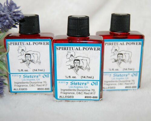 Spiritual Power Oil (1) 4DRMs  Clarity, Psychic, Santeria, Hoodoo, Voodoo,