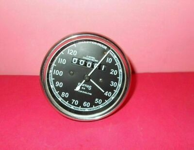 Speedometer Royal Enfield Motorcycle 0-120 MPH Black