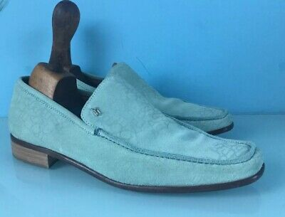 Versace Classic Suede Loafers Size EU 42 Turquoise