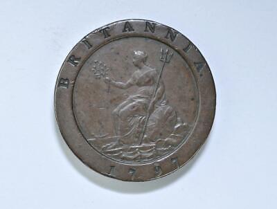 1797 GREAT BRITAIN - 2 PENCE - COPPER - Cartwheel - George III - Nice - 41mm Dia