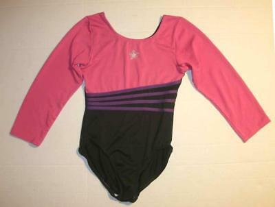 Long Sleeved Black Leotard (Freestyle by Danskin Girls Medium Long Sleeved Leotard Black Purple Pink)