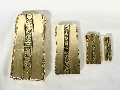 Star Trek, Deep Space Nine, Gold Pressed Latinum Set, Solid Metal