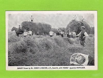 Ixworth Bury St Edmunds Fisons Fertilizer Ipswich Advertising pc Paid  Ref D346
