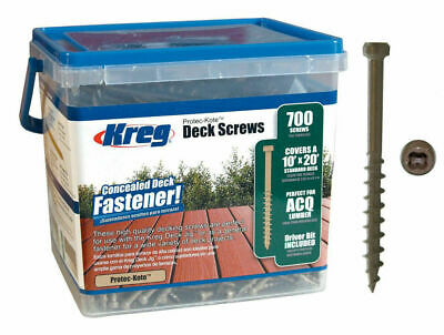 Kreg Sdk-c2w-700 2 Protec Kote 8 Coarse Thread 700 Ct Deck Screws