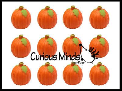 12 Pumpkin Party Favor Stress Balls, Bulk Small Novelty Toy Prize Halloween fall](Halloween Stress Balls)