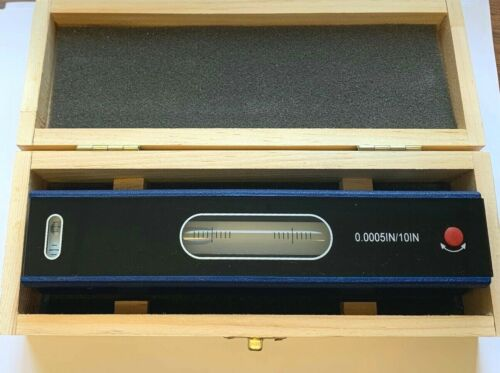 "8"" Master Precision Level .0005"" - NEW In Wooden Box"