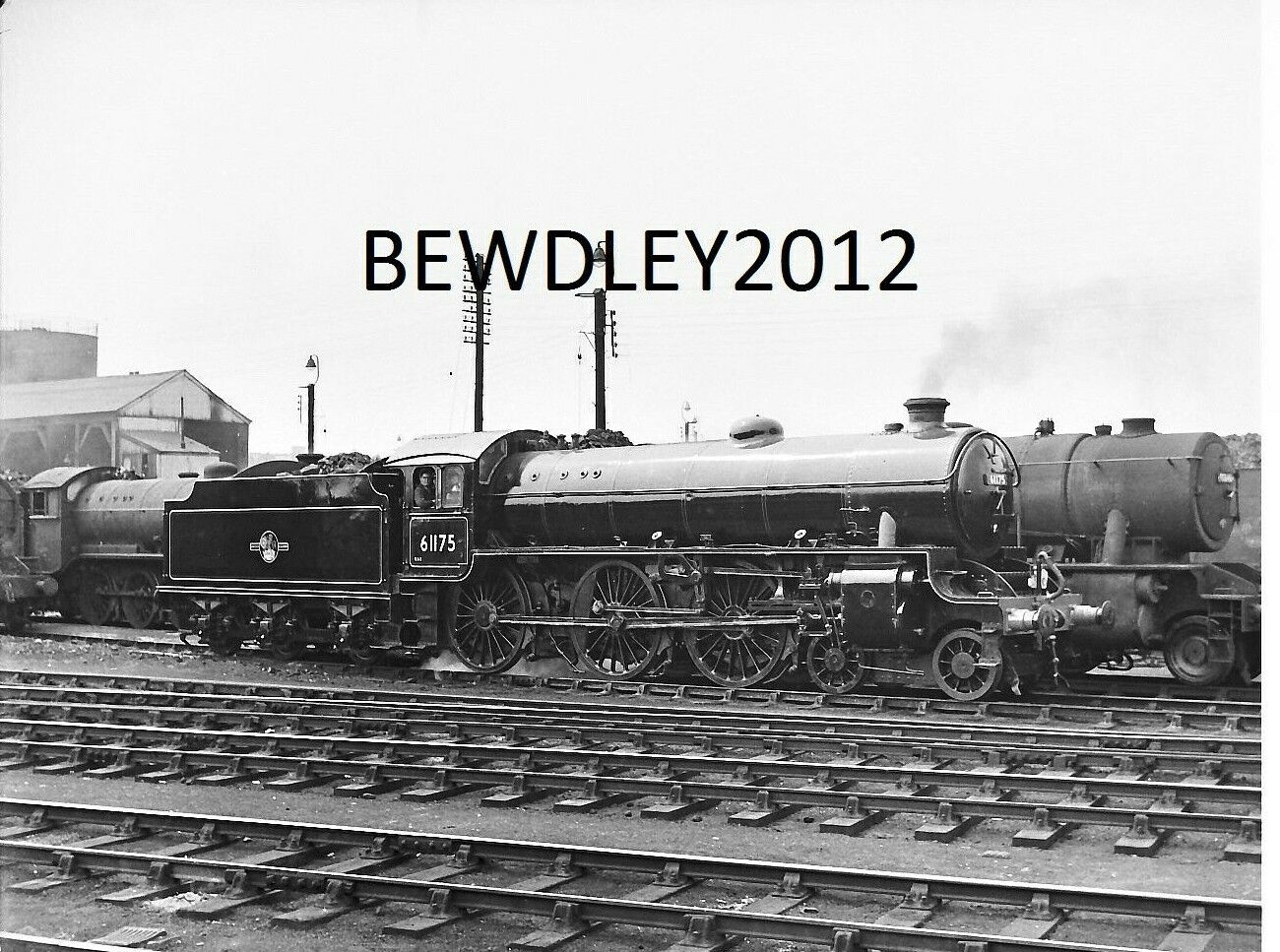 NEGATIVE FULL 6x4cm LNER B1 61175 IMMACULATE AT GRANTHAM JULY 1956 +COPYRIGHT