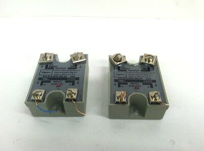 Lot Of 2 Dayton 5z956 Solid State Relay 240vac Output 3-32vdc Input